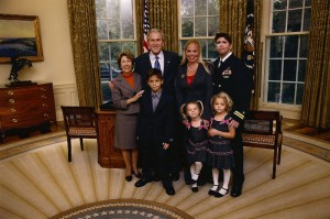 Jay and Family in White House